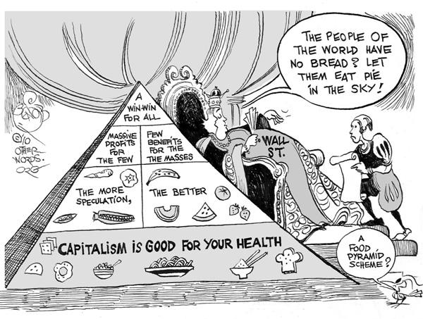 Capitalist Social Pyramid Coloring Page